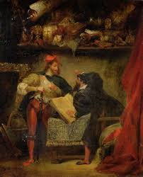 """Eugene Delacroix's painting, """"Faust and Mephistopheles"""""""
