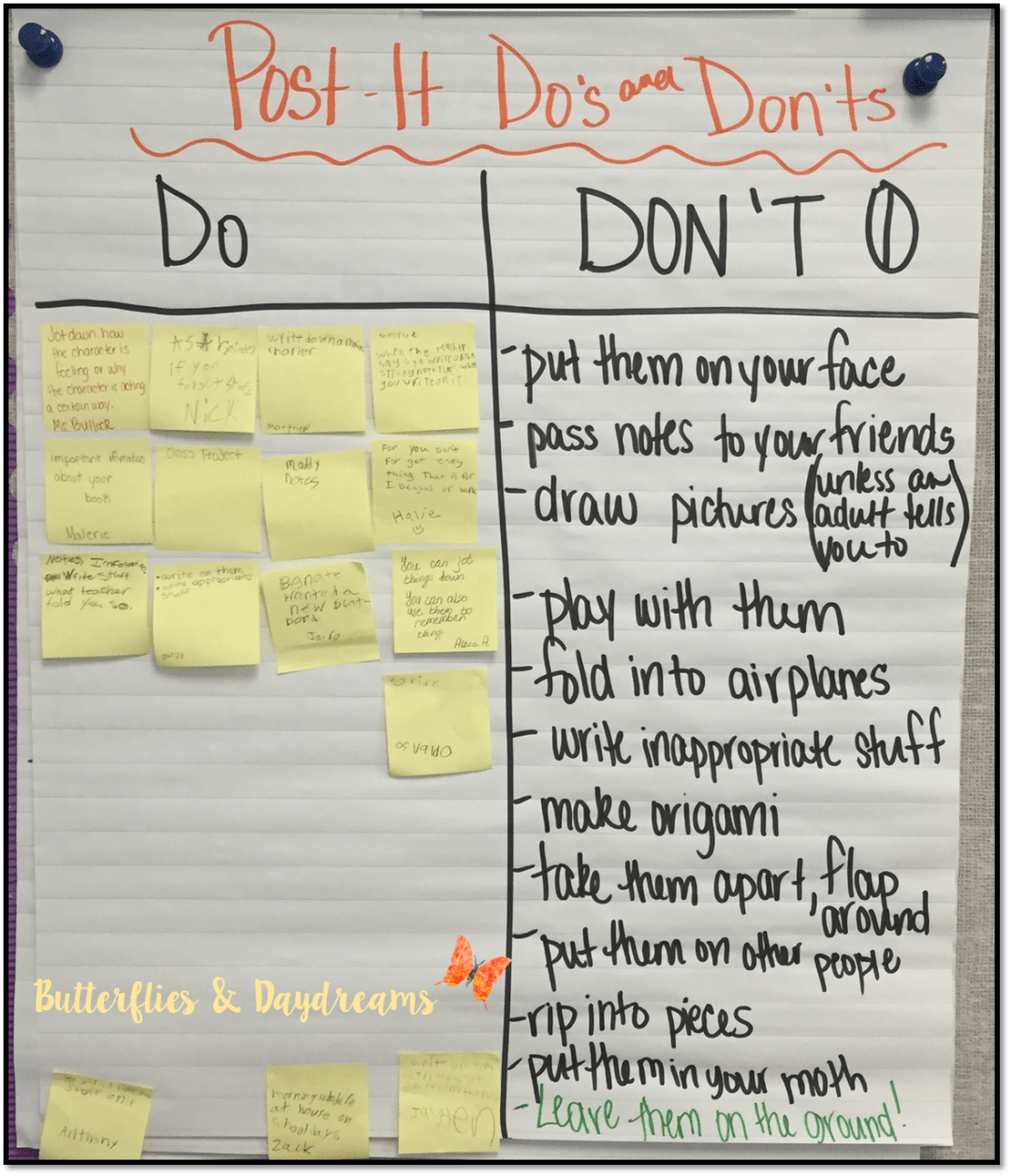 Post It Do's and Don'ts