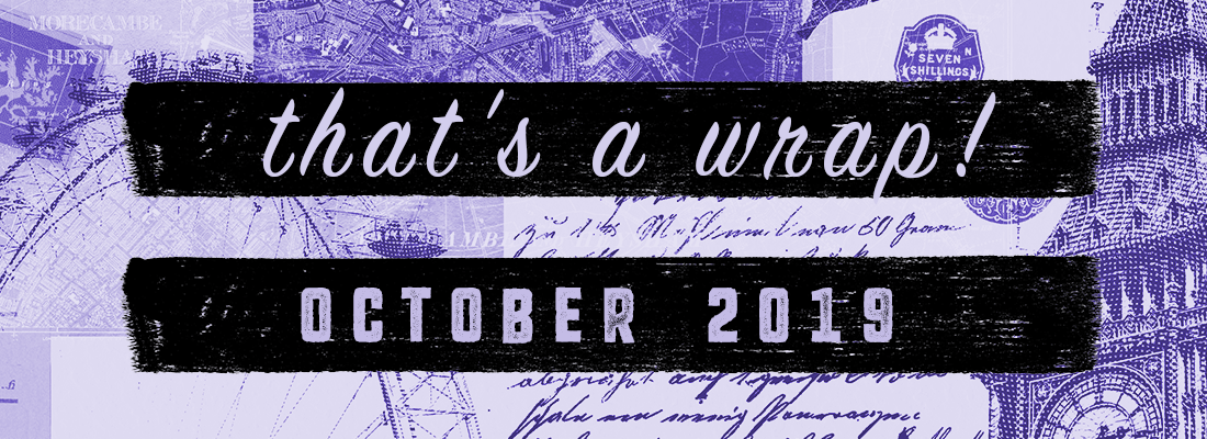 Not Much Reading, or Writing, Oops! – The October Wrap Up