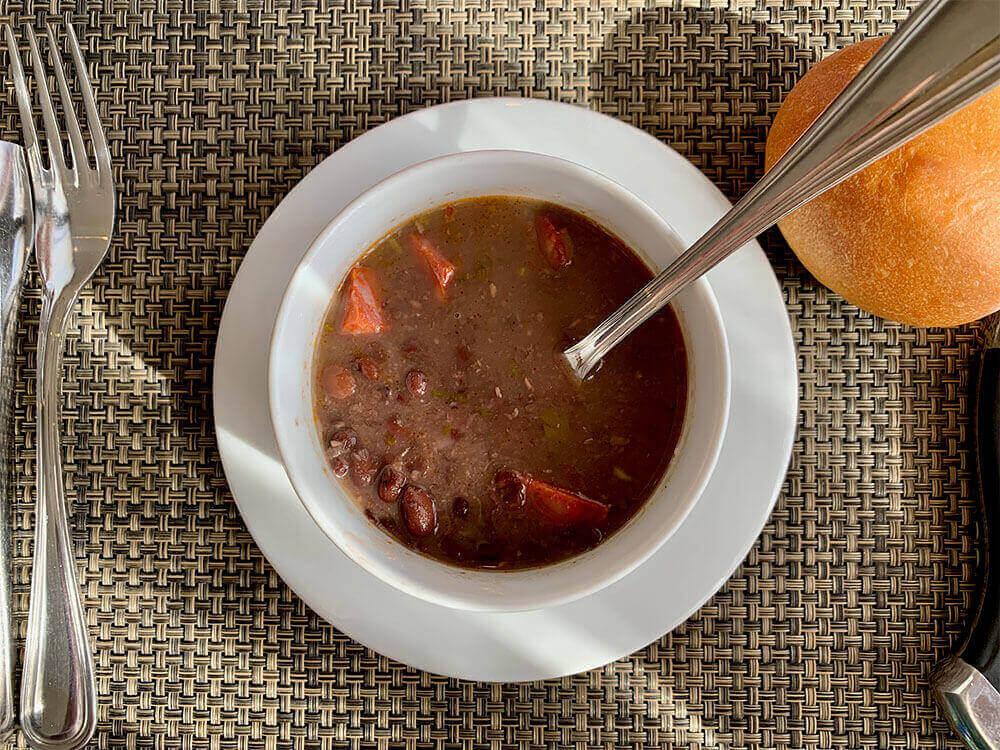 Black Bean Soup at Moderna