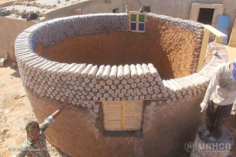 Water bottle house in Algeria. Photo: Huffingtonpost