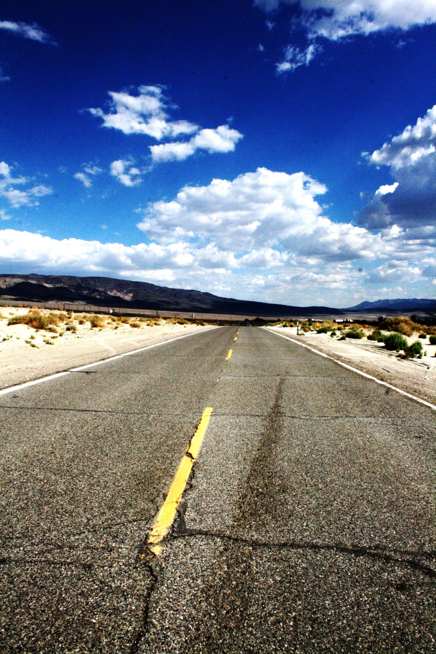 Driving in Death Valley