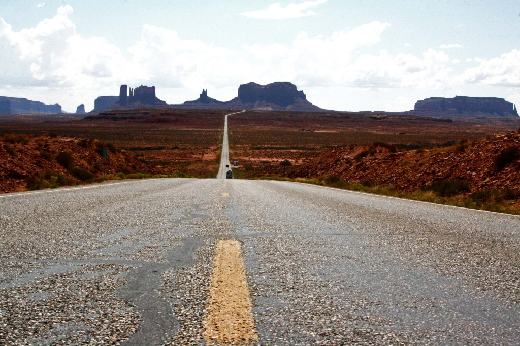 Driving in Monument Valley, Utah