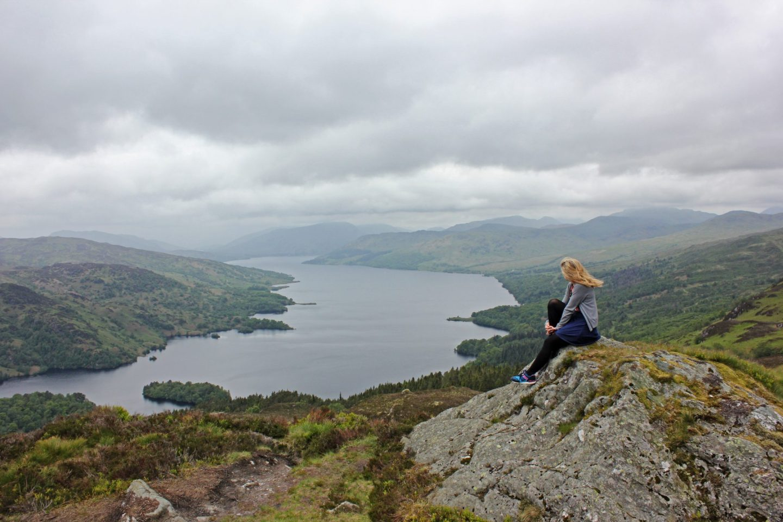 Climbing Ben A'an in Scotland