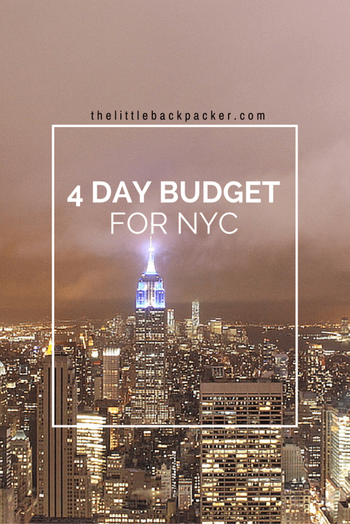 4 Day Budget For New York City
