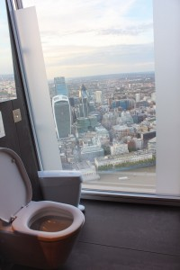 the view from the shard - toilet