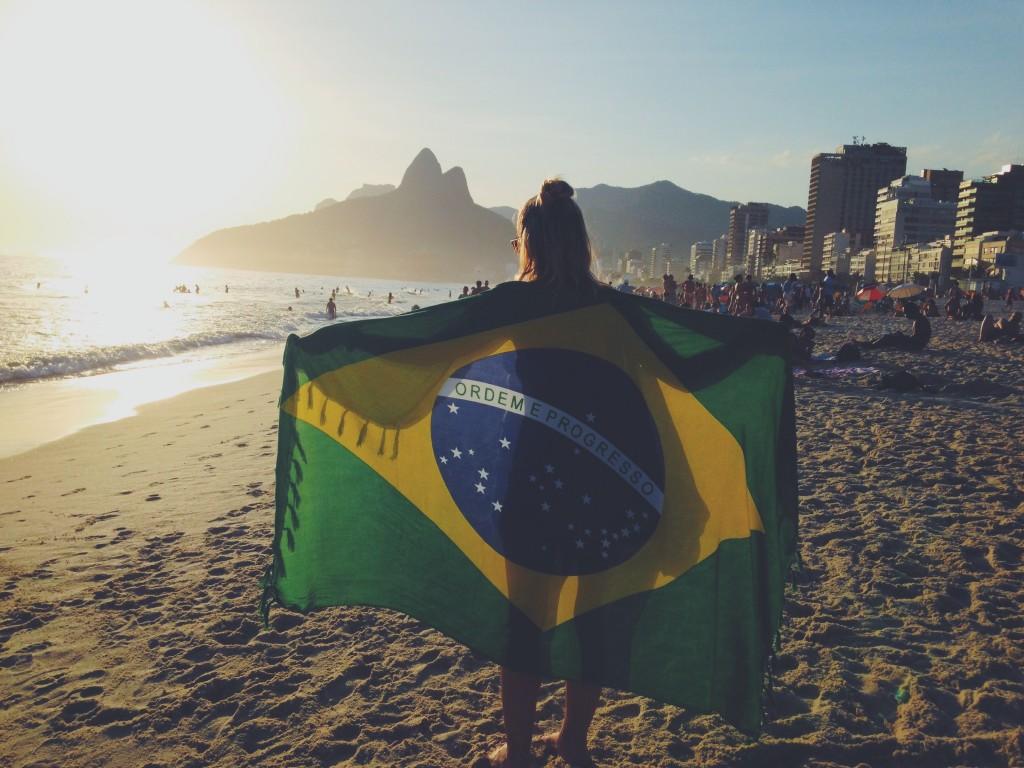 Enjoying beach time in Rio