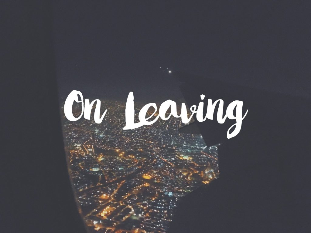 On Leaving