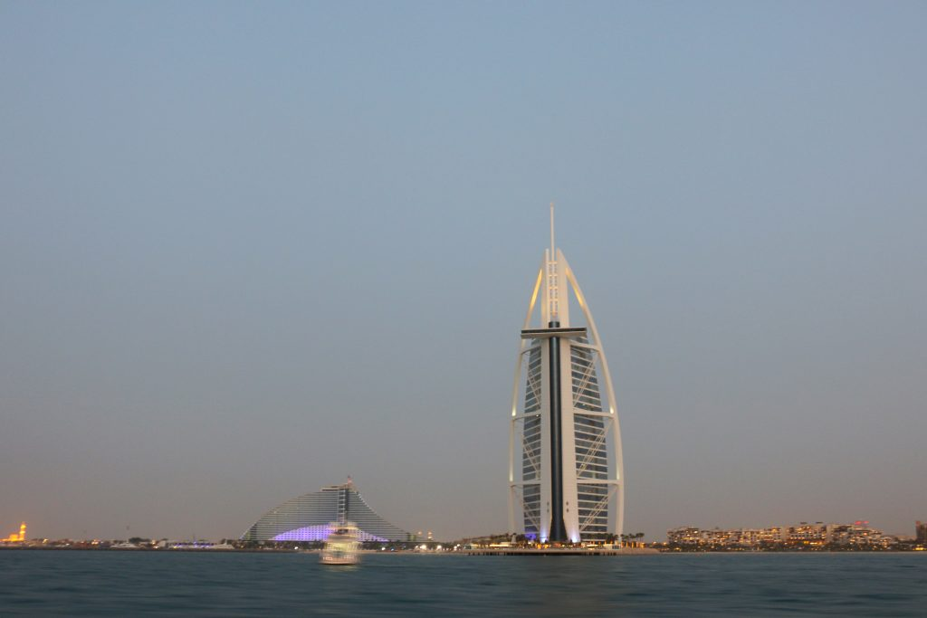 Burj al Arab from the water - 2 day itinerary for dubai