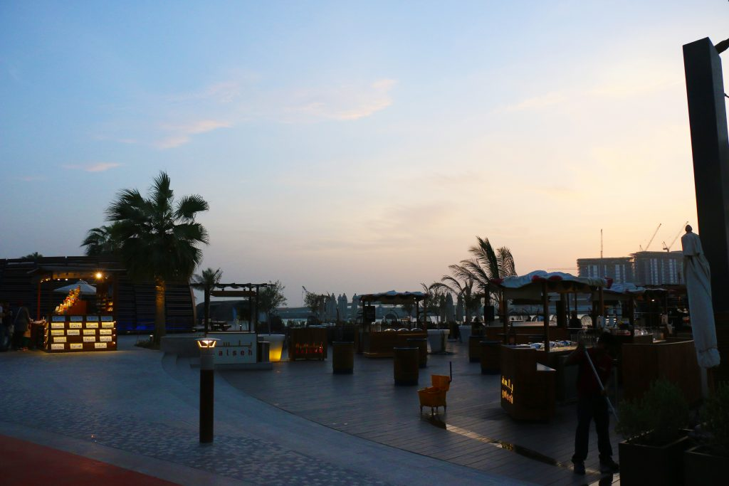 View of JBR Walk at night -Things to do in Dubai