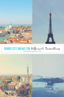 Europe city breaks for different travellers