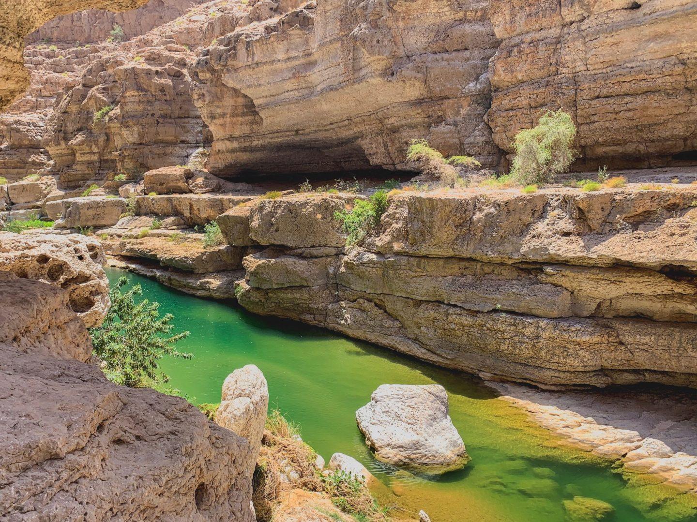 Wadi Shab cliff drop