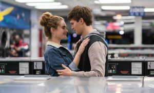 Lily James and Ansel Elgort in Baby Driver