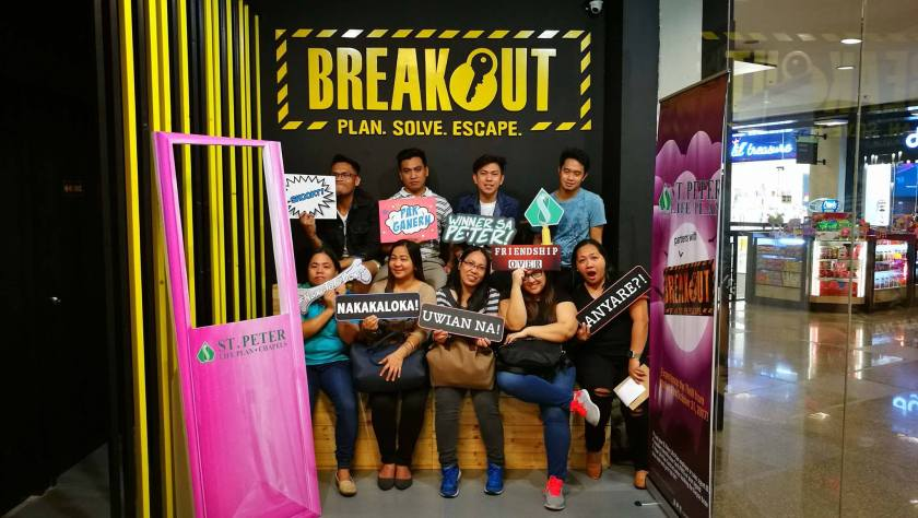 The bloggers' shot after the game of Breakout x St Peter Life Plans.