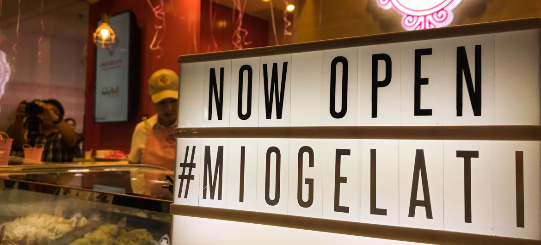 They are now open, come thru! | Mio Gelati in Ayala Malls Vertis North