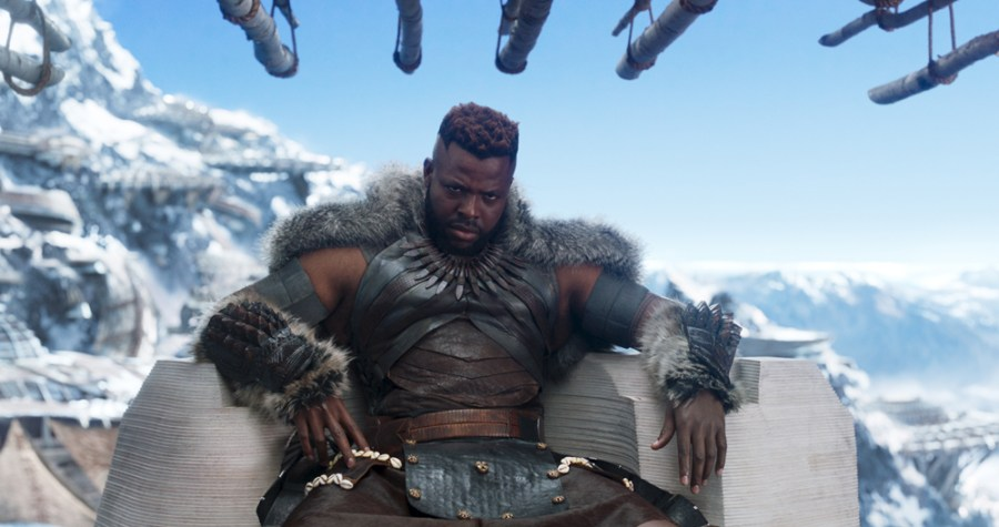 Marvel Studios' BLACK PANTHER. Center: M'Baku (Winston Duke). Ph: Film Frame. ©Marvel Studios 2018 | Credit: Marvel Studios