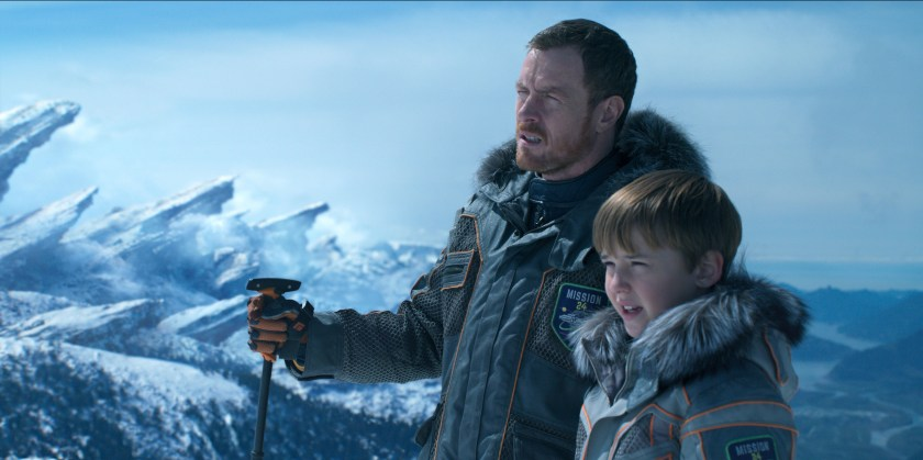 A father and son tale develops in Lost in Space.   Credit: Netflix