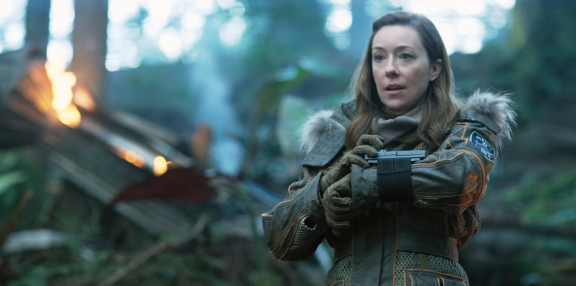 Molly Parker is a loving mom in Lost in Space.   Credit: Netflix
