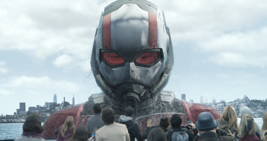 Ant-Man/Scott Lang in his Giant-Man form (Paul Rudd) in Ant-Man and the Wasp.   Credit: Marvel