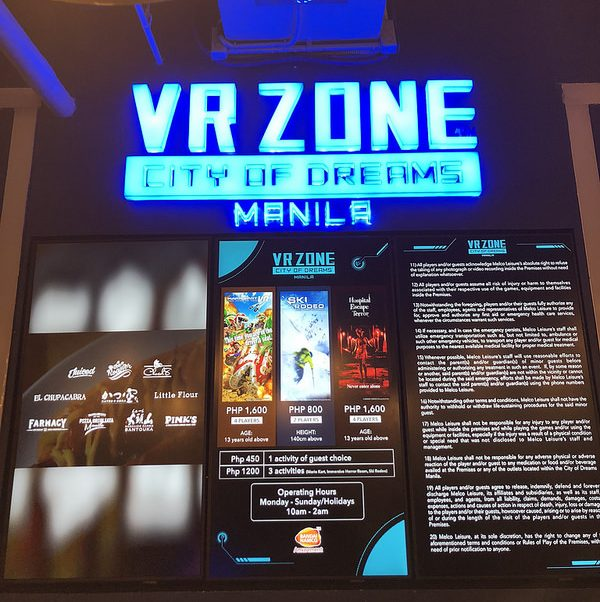 The rates at VR Zone.