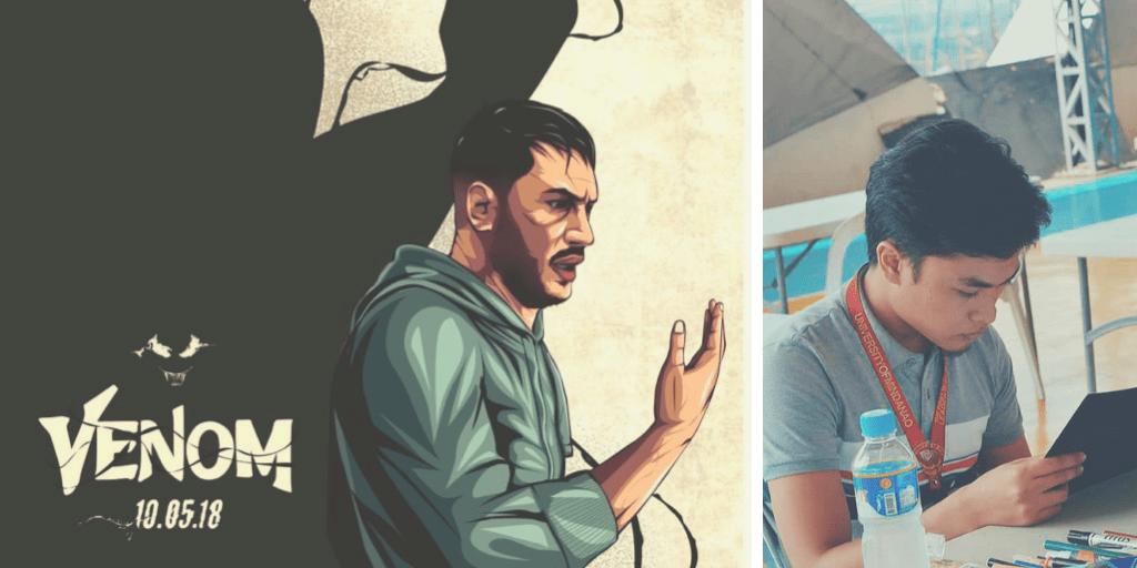 Davao Artist Wins Global Venom Poster Contest