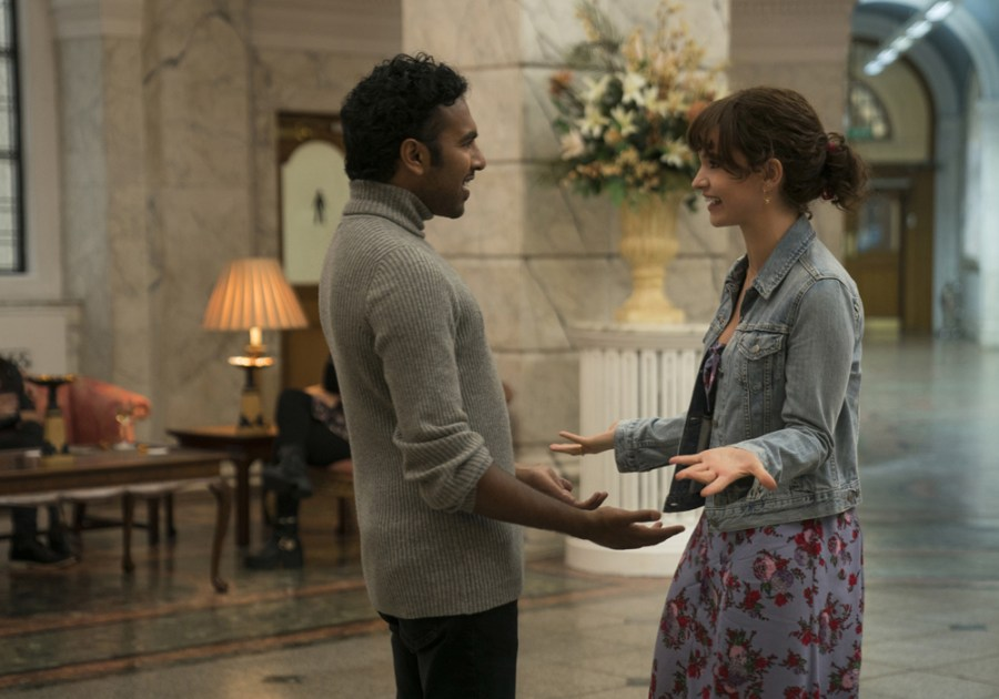 Himesh Patel and Lily James in Yesterday.   The Little Binger   Credit: United International Pictures
