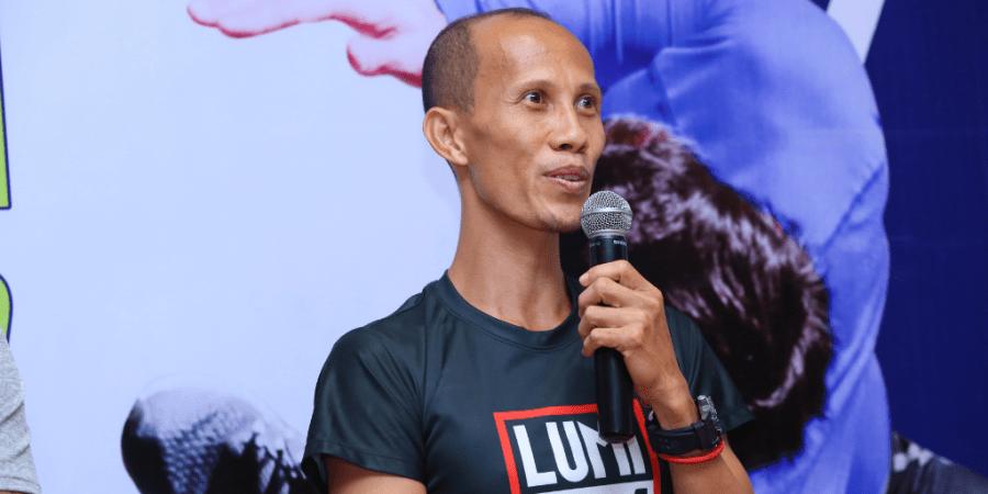 Filipino record holder Andrico Mahilum- Citi Vertical Run 2019 with Kerry Sports Manila | The Little Binger