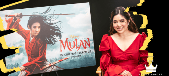 Moira Dela Torre sings the local version of Reflection from Mulan. | The Little Binger | Credit: Walt Disney Philippines