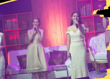 "Musical theater leading ladies Sheila Valderama, Yanah Laurel, Lara Maigue, and Gab Pangilinan performed a rendition of ""You've Got A Friend"" | The Little Binger"
