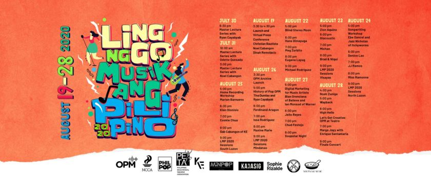 Schedule of Gigs of the New Normal: Linggo ng Musikang Pilipino | The Little Binger