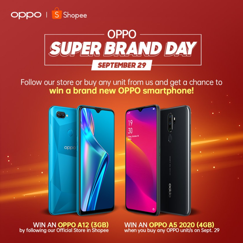 Get a chance to win a new OPPO phone. | LOOK: Up To 32% Off at OPPO Super Brand Day on Shopee! | The Little Binger
