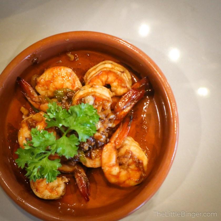 Shrimp gambas galli spanish tagaytay the little binger