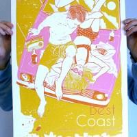 Kelly Dyson - Best Coast gig poster