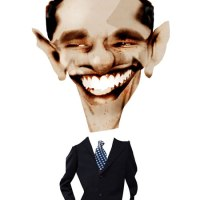 Nick Oliver - Obama Collage Caricature