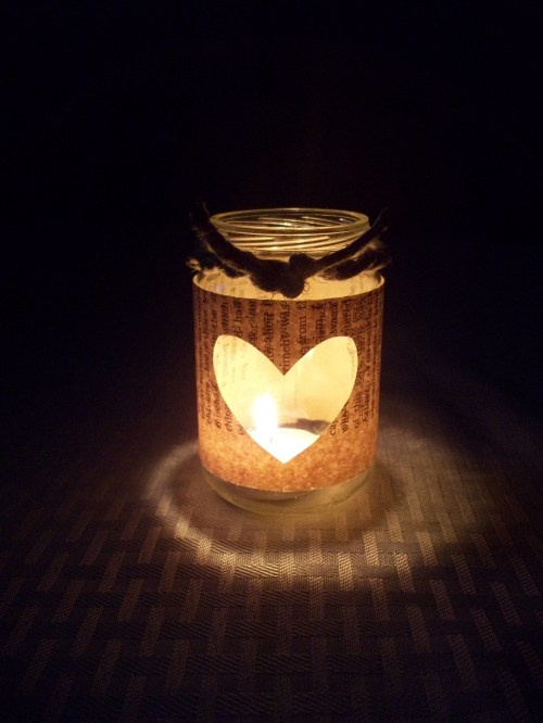 Book Page Rustic Glass Candle Votives    ||    thelittledabbler.com
