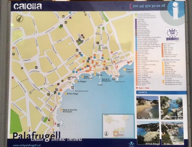 Map of Calella de Palafrugell