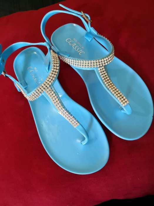 Blue Summer Sandals For Sale Buy Online