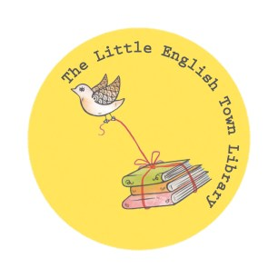 The Little English Town Library Logo- grey font