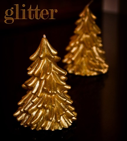 14 - Glitter - Golden Tree Candles