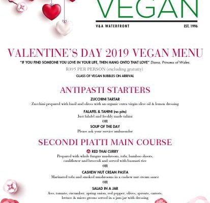 {NEWS} Valentine's Day Vegan Dinner at Balducci