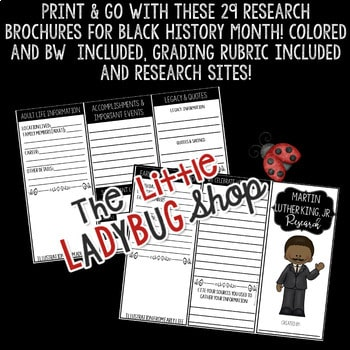 Black History Month Research Project- Martin Luther King, Jr, Rosa Parks
