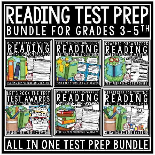 Reading Test Prep 3rd Grade, 4th Grade Bundle