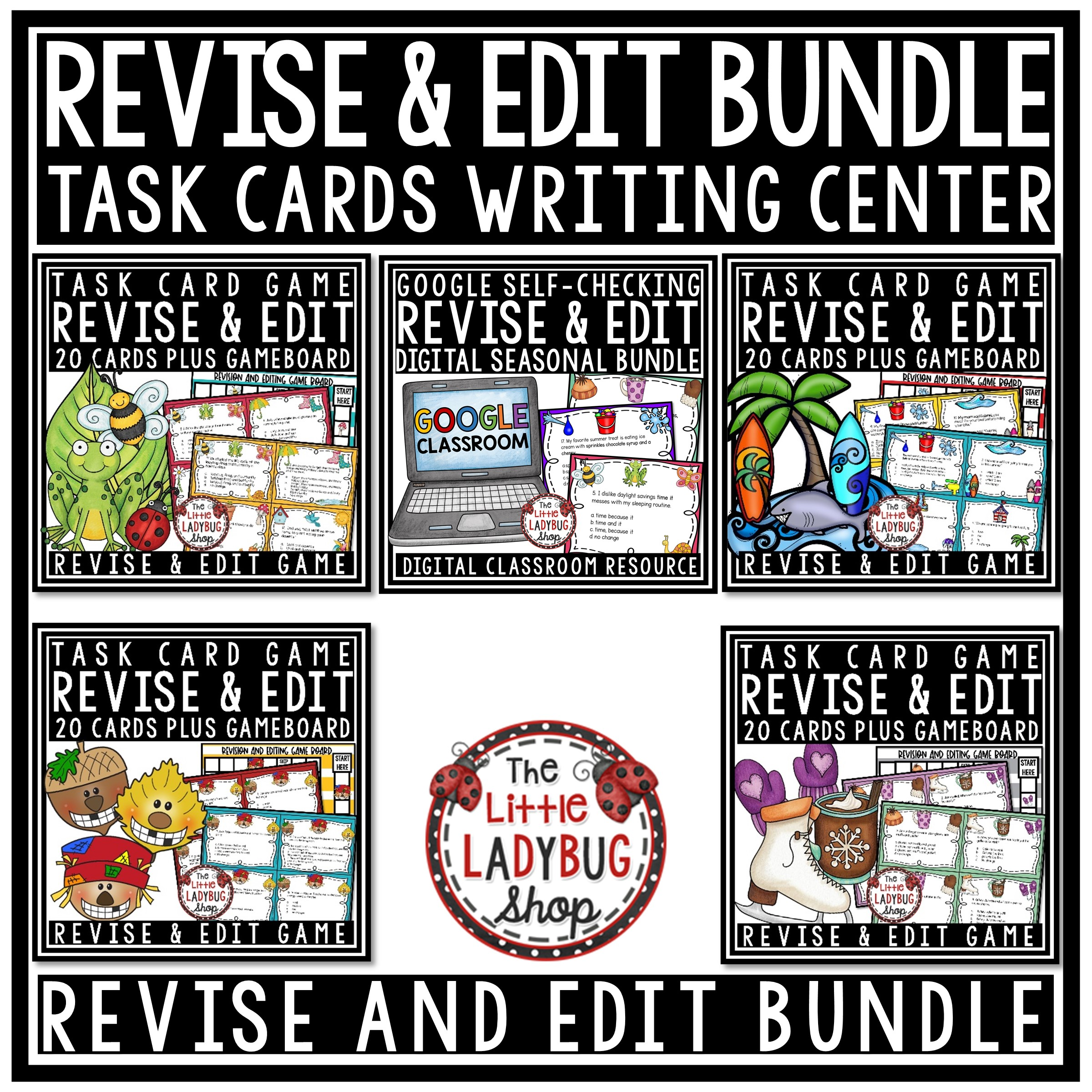 Digital Revise Amp Edit Task Card Writing Test Prep