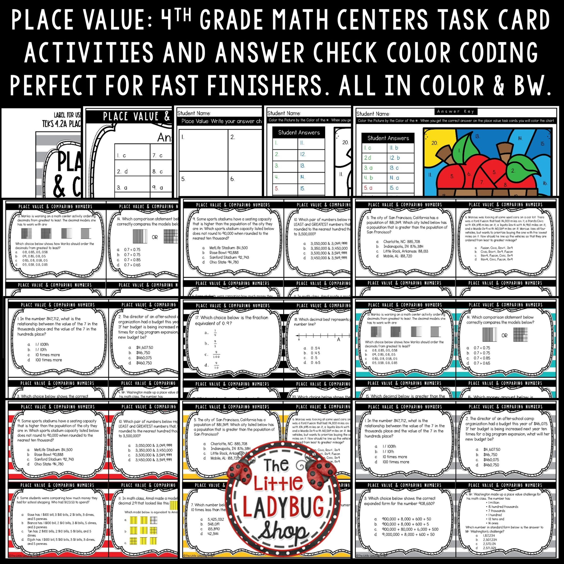 Digital Place Value Amp Comparing Numbers 4th Grade Teks 4