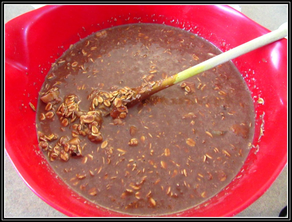 Chocolate mixture and oats