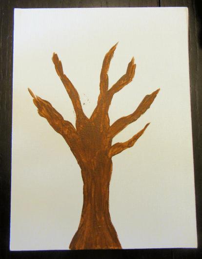 Autumn Leaves Tree Trunk