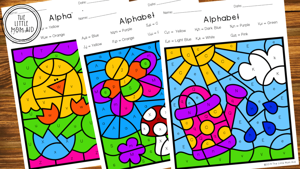 Spring Color by Letter, Letter Activities, Letter Work, Alphabet Activities, Letter Identification