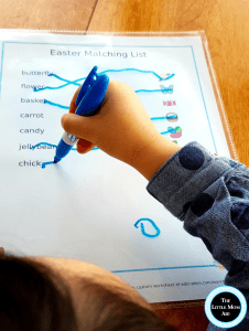 Easter Matching Activity Preschoolers and Toddlers, Easter words, easter activity