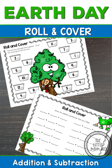 Earth Day Math Game Preschool Kindergarten 1st Grade