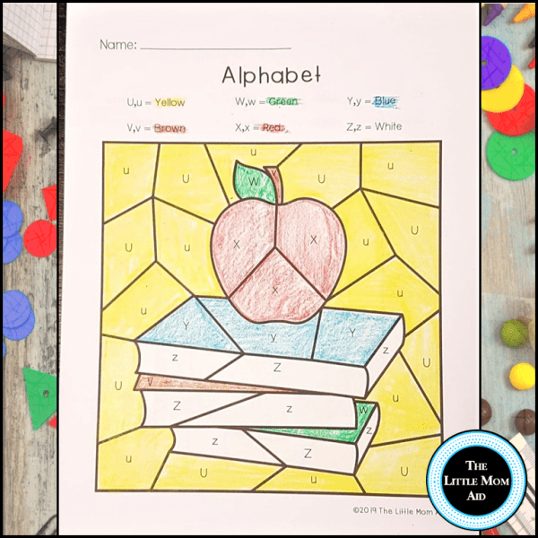 Back to School Alphabet coloring pages